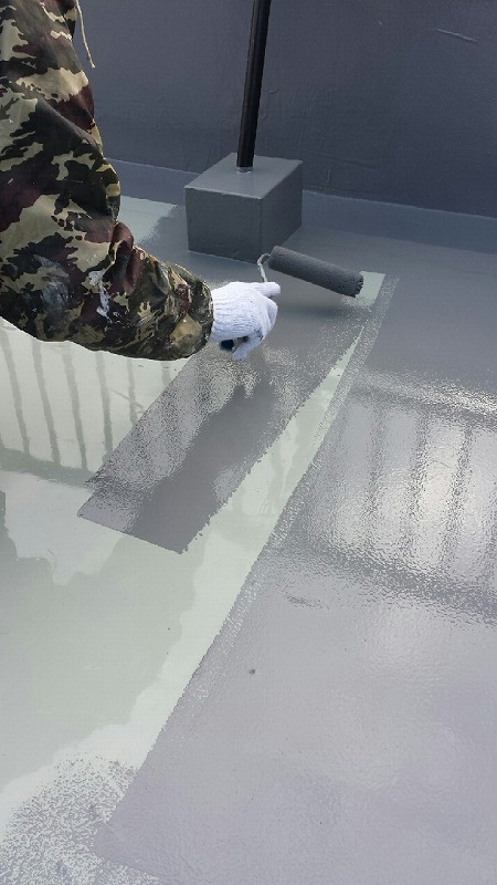 トップ保護材塗り