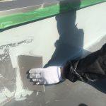 屋上防水中塗り1回目